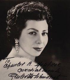 Giulietta Simionato- ( 12.Mai 1910- 5.Mai 2010 ) war eine italienische Opernsängerin mit den Stimmlagen Mezzosopran und Alt.