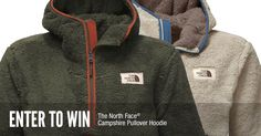 To celebrate the season, we're giving away 2 Campshire hoodies from The North Face.