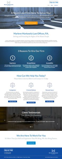 Custom #webdesign for Marlene Markowitz Law Offices, P.A. {attorney website}
