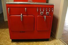 Vintage Working 1949 Chambers C-90 Stove in Freedom Red