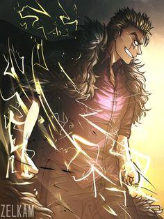 Lightning Dragon Slayer Laxus Dreyer (Second Generation) - Fairy Tail Fairy Tail Rogue, Laxus Fairy Tail, Anime Fairy Tail, Fairy Tail Art, Fairy Tail Guild, Fairy Tail Ships, Fairy Tales, Fairytail, Gruvia