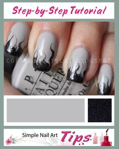 Smoky Marbled Nail Art step-by-step tutorial by www.SimpleNailArtTips.com #nails #nailart #manicure