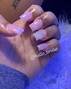Bling Acrylic Nails, Drip Nails, Aycrlic Nails, Summer Acrylic Nails, Glam Nails, Best Acrylic Nails, Acrylic Toes, Acrylics, Coffin Nails