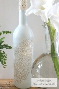 How lovely is this stenciled wine bottle from Carolyn's Homework? Carolyn has taken a plain old wine bottle and upcycled it into a beautiful home decor piece. This is the type of project that can...