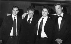 Joaquim Phoenix, Matt Damon, Casey and Ben Affleck