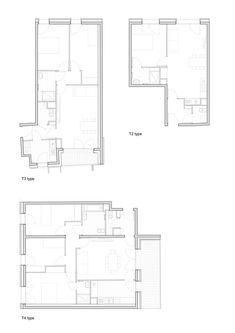 38 Social Housing,Floor Plans