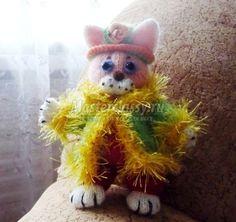 Авторский вязаный кот. Мастер-класс с пошаговыми фото