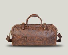 9225871787 New Unisex Dark Brown Leather Duffel Gym Weekend Weekender Travel Holdall  Bag Medium Size theshiningleatherco Gym