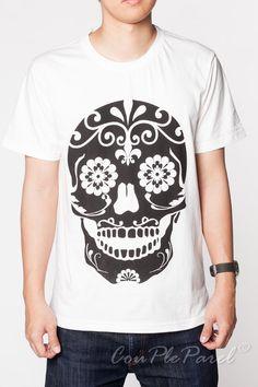 Skull T Shirt Day of the Dead Maya Aztec Men Short Sleeve White Shirts Top Tee Shirt Men Unisex T-Shirts Size S M L on Etsy, $15.99