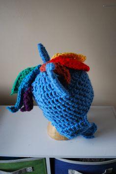 My Little Pony Friendship is Magic RAINBOW DASH crochet hat