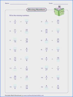 Equivalent fraction worksheets contain fraction bars pie models finding missing numbers writing and representing equivalent fractions and more