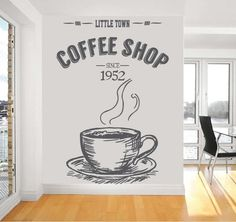 Coffee Cup Wall Decor Wall decals are currently one of the hottest trends in home decor. It is one of the most easy ways to add a special touch