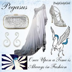 Prom Dresses 2018 Disney Style: Pegasus, created by trulygirlygirl Disney Prom Dresses, Disney Character Outfits, Disney Themed Outfits, Character Inspired Outfits, Disney Bound Outfits, Disney Inspired Fashion, Disney Fashion, Chesire Cat, Fandom Fashion