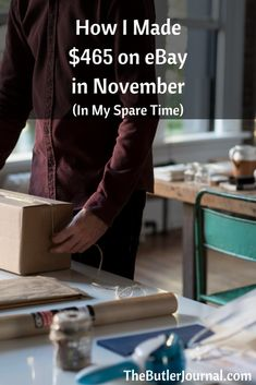 I had my second best month ever in eBay sales in November at $465.83. I also want to give you some tips that can help you with your selling.