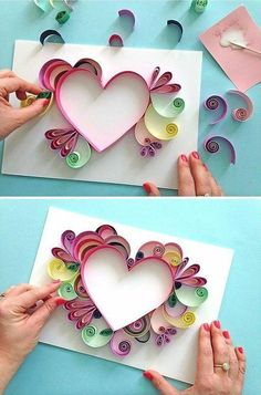 Comment faire facile Quilling - Comment faire facile Quilling The Effective Pictures We Offer You About diy projects A quality pic - Paper Quilling Patterns, Quilled Paper Art, Quilling Paper Craft, Paper Crafts, Quilling Ideas, Quilling Letters, Quilling Jewelry, Paper Beads, Paper Flower Art