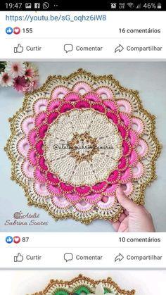 Crochet Patterns Filet, Crochet Mandala Pattern, Crochet Lace Edging, Crochet Flower Tutorial, Crochet Circles, Crochet Flower Patterns, Thread Crochet, Crochet Designs, Crochet Crafts