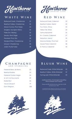 WINE LIST LAYOUT
