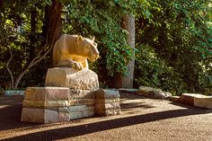 New Nittany Lion statue 2013