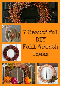 7 beautiful DIY fall wreath ideas to decorate your door!