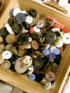 Buttons as loose parts, math manipulatives, creative art, sensory and/or fine motor experiences at Scotch College, Adelaide ≈≈