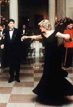 Princess Diana of Wales and John Travolta dancing