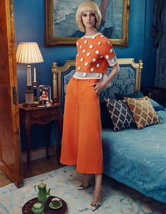 Seventies-inspired daywear - Women's Fashion - How To Spend It -cropped top with culottes!