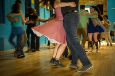 Dancers twirl at Brooklyn Contra, which is attracting increasing number of young New Yorkers.