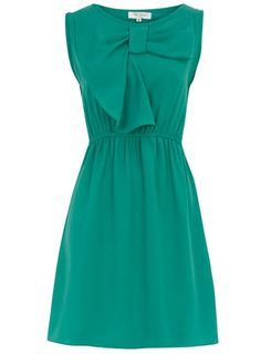 Teal bow dress and other apparel, accessories and trends. Browse and shop 21 related looks. Dress With Bow, Dress Me Up, Estilo Retro, Jackie Kennedy, Aqua Blue, Teal Green, Coral, Classy And Fabulous, Mode Style