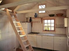 cottages-cabins-kitchens-light-wood-kitchen-systems-ladders-open-shelving-windows-wood