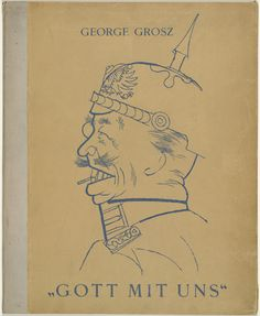 George Grosz. Cover from the portfolio God with Us (Gott mit uns). (1919, published 1920)