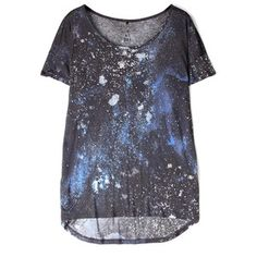 2nd DAY 2nd Night Galaxy Print T-shirt