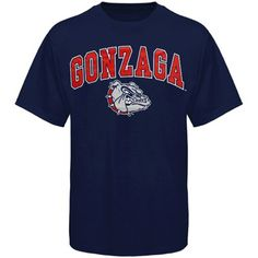 Gonzaga Bulldogs Arched University T-Shirt - Navy Blue