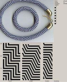 stripe beaded crochet bracelet