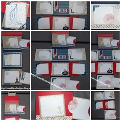 Stampin UP , Open Sea ,  By the Tide, Real red, Mini Album, Scrapbooking