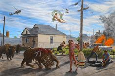 """Shame and Prejudice"": U of T Art Museum hosts artist Kent Monkman's exhibit for Canada 150 Museum Of Fine Arts, Art Museum, Cast The First Stone, Vancouver Art Gallery, Art Occidental, Montreal Museums, Mexico Art, Art Brut, Urban"