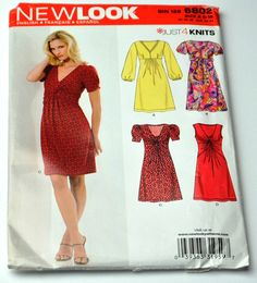 NewLook Sewing Pattern 6802 Knit Women Dresses Sewing by YWart