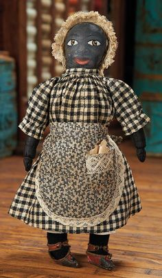 """The Blackler Collection (Part 2 of 2-Vol set): 9 All-Original American Black """"Witherspoon Rag Doll"""""""