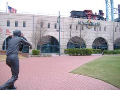 Biggio & Bagwell statues at Minute Maid Park