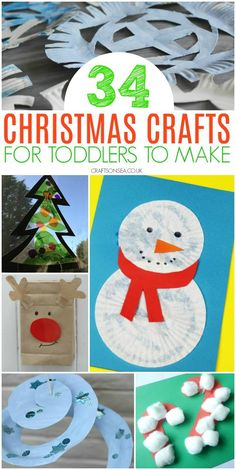 Simple, effective and most of all fun! Fantastic Christmas crafts for toddlers that they'll love and you will too! Ornaments, Christmas tree crafts and Easy Christmas Crafts For Toddlers, Diy Christmas Videos, Preschool Christmas Crafts, Winter Crafts For Kids, Toddler Christmas, Christmas Activities, Christmas Crafts For Kids, Christmas Projects, Christmas Fun