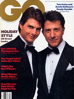 The GQ Cover December 1988: Tom Cruise and Dustin Hoffman's Gaudy Gamble