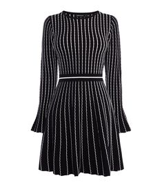 Dress for every occasion with our fit-and-flare knitted dress. With a rounded neck, pin stripe detail, and A-line silhouette, this dress can be styled down with a biker jacket and boots, or up with a clutch and courts. Perfect for your ever-changing social calendar.