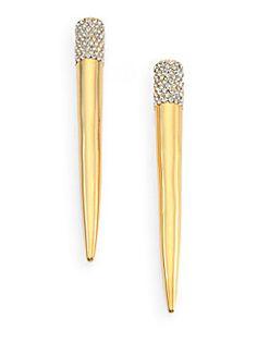 Pave Crystal Spike Stud Earrings Eddie Borgo