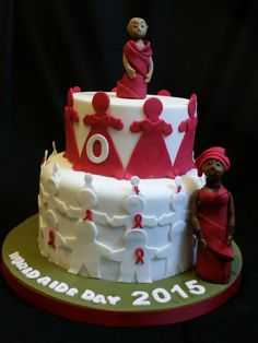 Getting to zero - aids awareness - Cake by Love it cakes