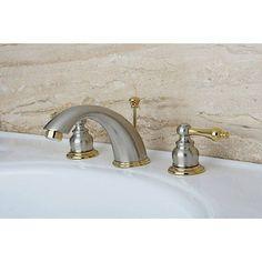 Victorian Satin Nickel/ Polished Widespread Bathroom Faucet