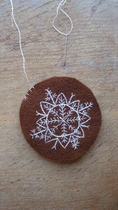 Inspiration for embroidered snowflake ornament