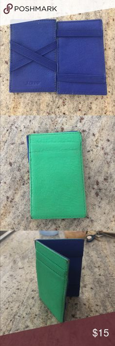 Jcrew Magic Wallet Great for a few cards and cash inside. In great condition! J. Crew Accessories Key & Card Holders