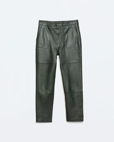 Image 6 of LEATHER TROUSERS from Zara