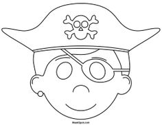 Pirate Mask to Color