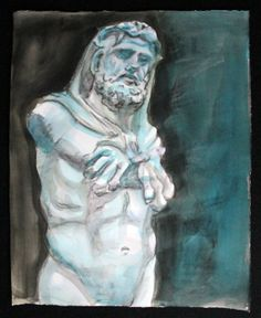 Hercules 11x14 inches watercolor on Rives paper by by kmencher, $48.00