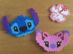Stitch and Angel perler beads by ayaka_731